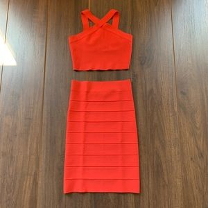 BCBGMaxAzria 2 piece Body-con Dress